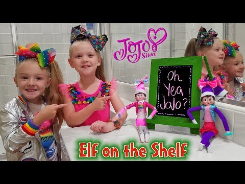 Elf On The Shelf Dressed Up As JoJo Siwa!! Day 9