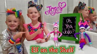 Elf on the Shelf Dressed Up As JoJo Siwa!! Day 9