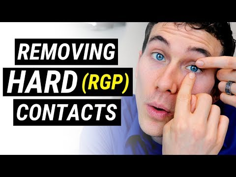 How To Remove HARD Contact Lenses EASILY | Doctor Eye Health