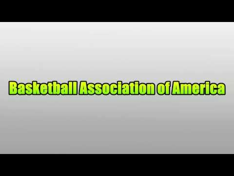 Basketball Association of America