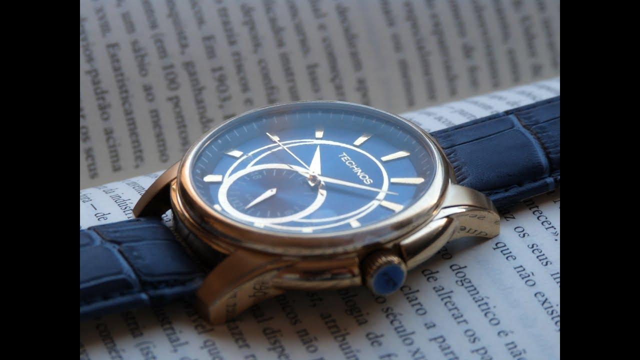 66cdf6b145daa Relógio Dourado Technos 6P28AA 2A Grandtech Masculino Grande. Thauro  Relógios