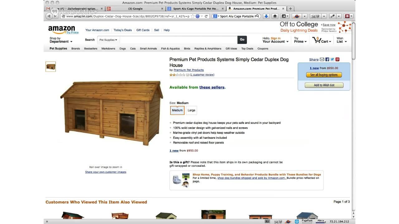 duplex cedar dog house review youtube. Black Bedroom Furniture Sets. Home Design Ideas