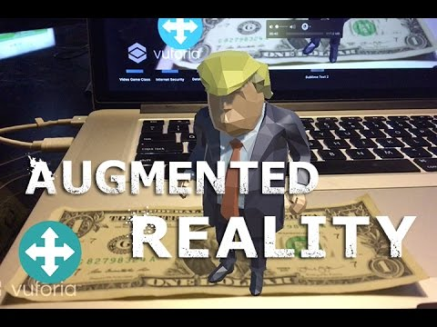 Lets Make An Augmented Reality App In 6 Minutes Donald Trump