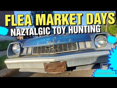 FLEA MARKET ADVENTURE & HUNT for Vintage toys & Retro Video games  (Naztalgic Fleas #57)