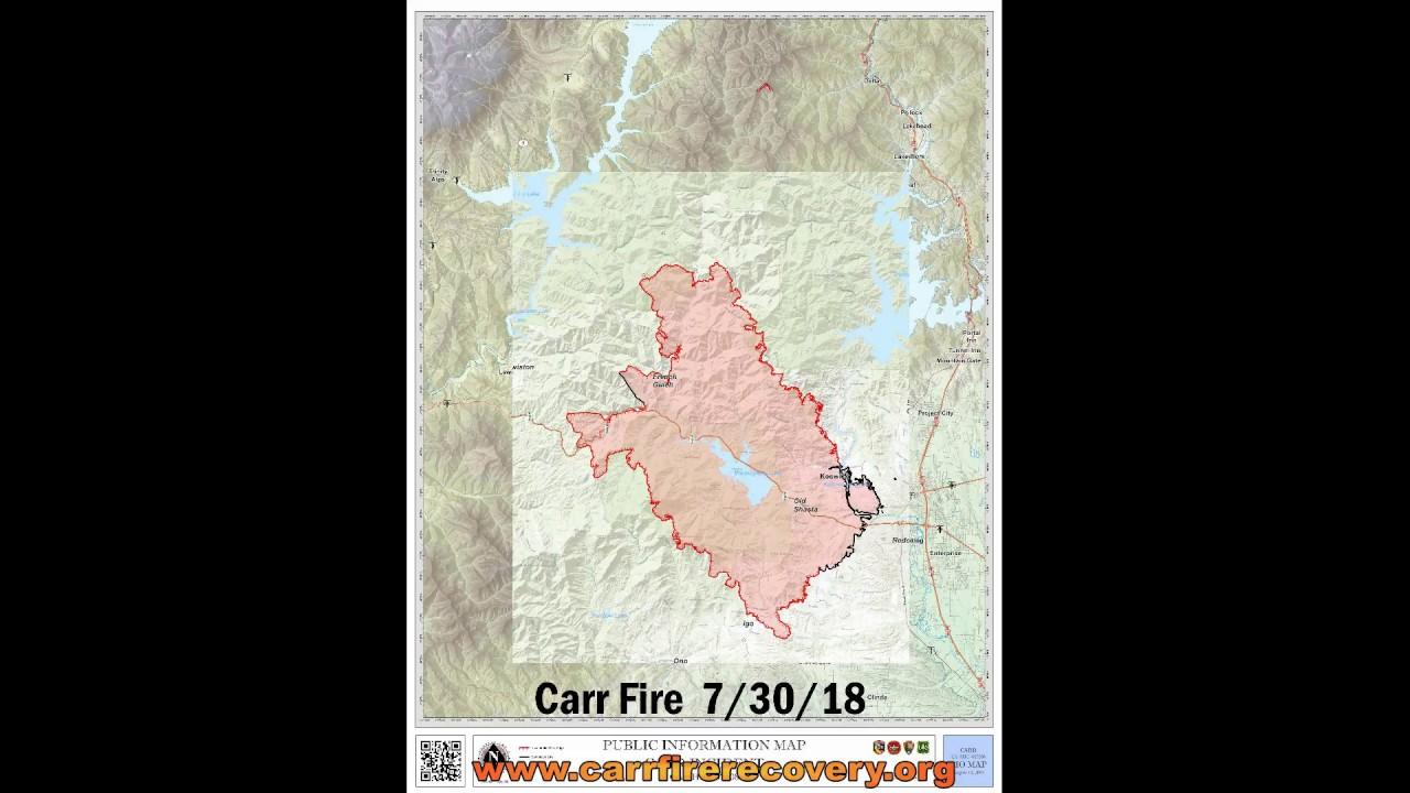 CAL FIRE Carr Fire Public Information Maps 7 25 8 14