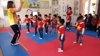 """Tiết thể dục """"Bật xa 35cm"""" 4-5 tuổi - MN Quang Trung"""