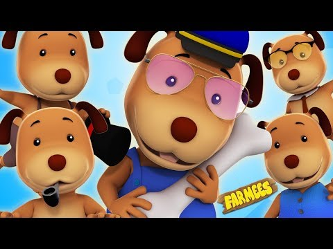 Five Little Dogs Song For Children 3D Video For Kids And Babies by Farmees S02E199
