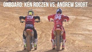 Onboard Ken Roczen vs Andrew Short - 2017 Honda CRF450R Intro - Monster Mountain MX