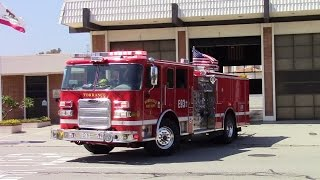 Torrance Fire Dept. -  Engine 93 & Rescue 93 Responding