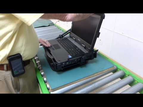 Attaching Display Mount to Rugged Laptop Getac X500 Part3