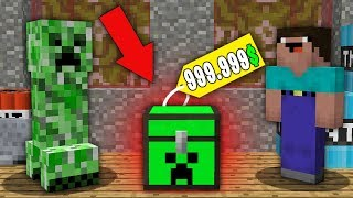 Minecraft NOOB vs PRO : NOOB BOUGHT THIS SUPER CREEPER CHEST FOR 999.999$! Challenge 100% trolling
