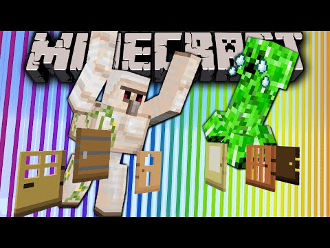 Minecraft 1.8 Snapshot: Door Redesign, Golems Hunt Creepers, Baby Rabbit Name, Hint New Slabs Stairs