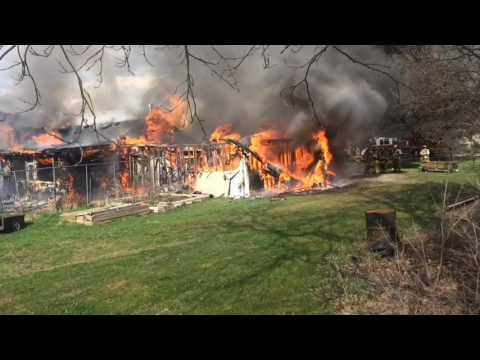 Fire destroys Burton home