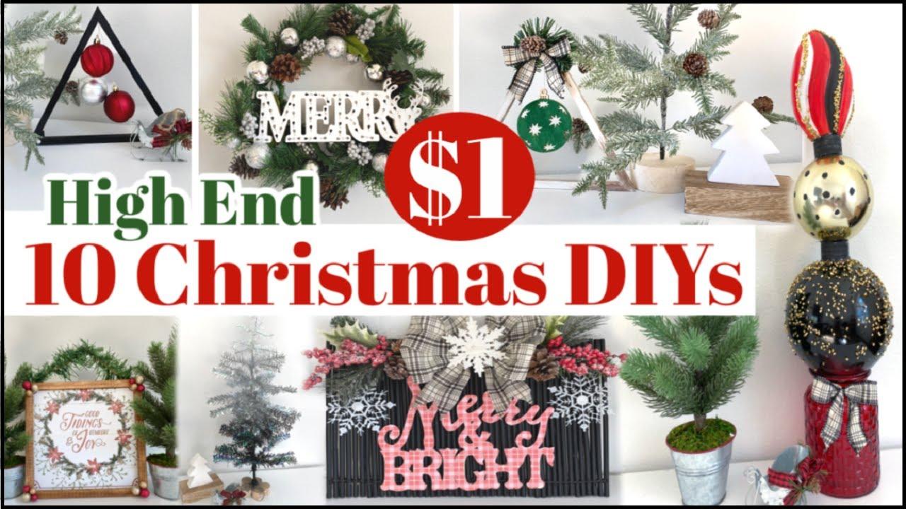 2020 Christmas Diys NEW* 10 Dollar Tree Christmas DIYs 2020 🌲 High End Christmas