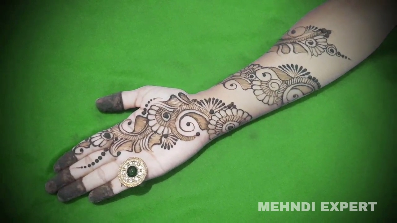 Mehndi Patterns What Are They : Fusion of bangle and arabic mehndi designs for hands easy unique
