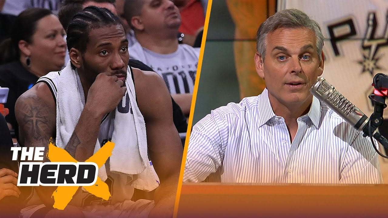 Colin isn't buying Kawhi is warming up to Raptors, Talks biggest losers in trade | NBA | THE HERD