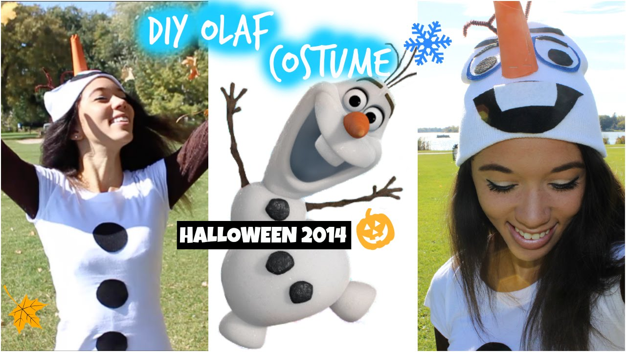 sc 1 st  YouTube & DIY Olaf ? Frozen Halloween Costume! Easy u0026 Affordable! - YouTube