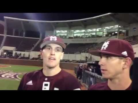 MSU's Josh Lovelady and John Holland react to a 6-2 win over