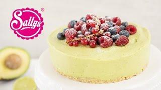 Vegane Sommertorte mit Avocadocreme / NO Bake Cake