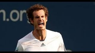 Andy Murray Gets Hit By Ball (9-4-15)
