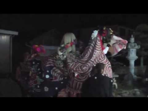 富山県射水市大島北野の獅子舞 ノッタノッタ