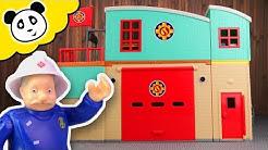 Feuerwehrmann Sam - Die neue Feuerwehr Station! - Spielzeug auspacken & spielen - Pandido TV
