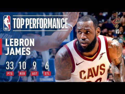 LeBron James Has Near Triple-Double (33/10/9) vs. Magic | January 6, 2018