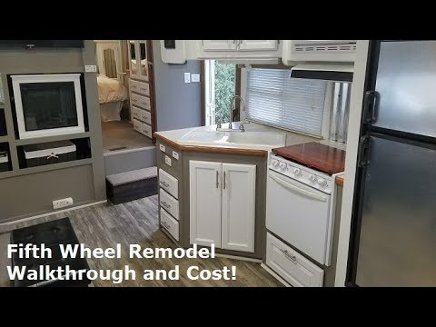 RV Remodel on a budget  Rustic Modern Before and After