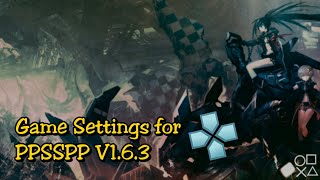 Black Rock Shooter: The Game/PPSSPP Emulator V1.6.3 - Gameplay and Settings
