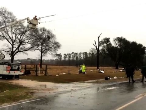Damage in Georgia Town Amid Deadly Storms