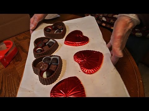 Enrobing Chocolate Heart Boxes