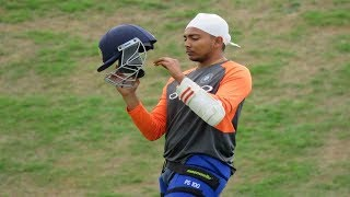 Watch: Young Prithvi Shaw impresses in his first ever practice session with seniors at Ageas Bowl