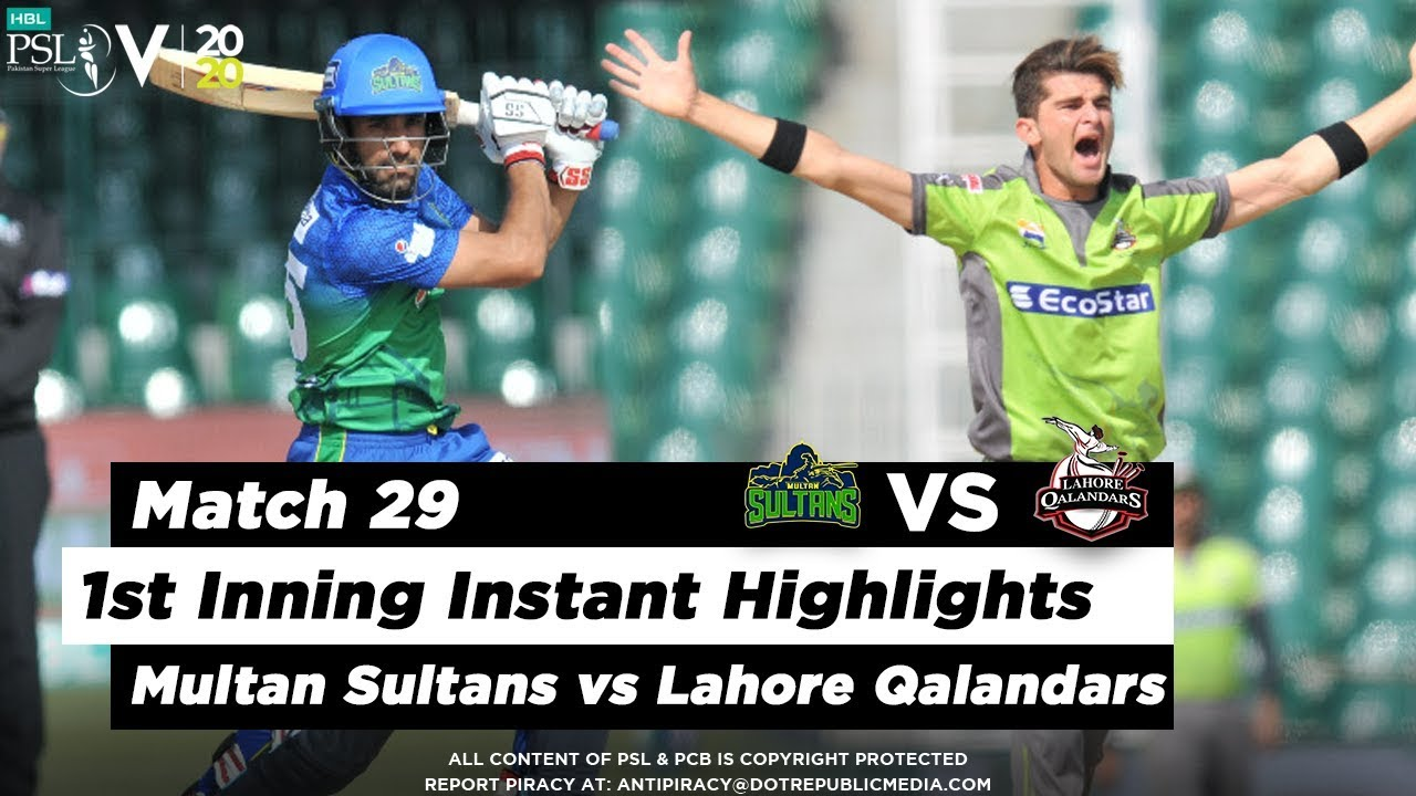 Multan Sultans vs Lahore Qalandars | 1st Inning Highlights | Match 29 | 15 March | HBL PSL 2020