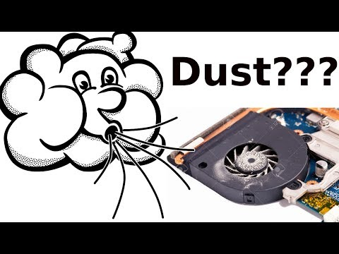 How to clean laptop fan without opening it