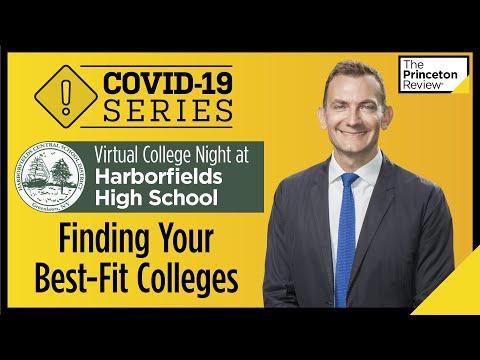 Virtual College Night at Harborfields High School: Finding Your Best-Fit Schools | COVID-19 Series