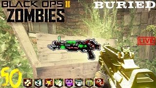 ⚰BURIED ROUND 50 CHALLENGE LIVE!⚰ BLACK OPS 2 ZOMBIES GAMEPLAY (Bo2 w/Ch0pper)