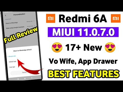 Redmi 6A MIUI 11.0.7.0 😍 New Features Review | Redmi 6A MIUI 11.0.7.0 What's New Full Review
