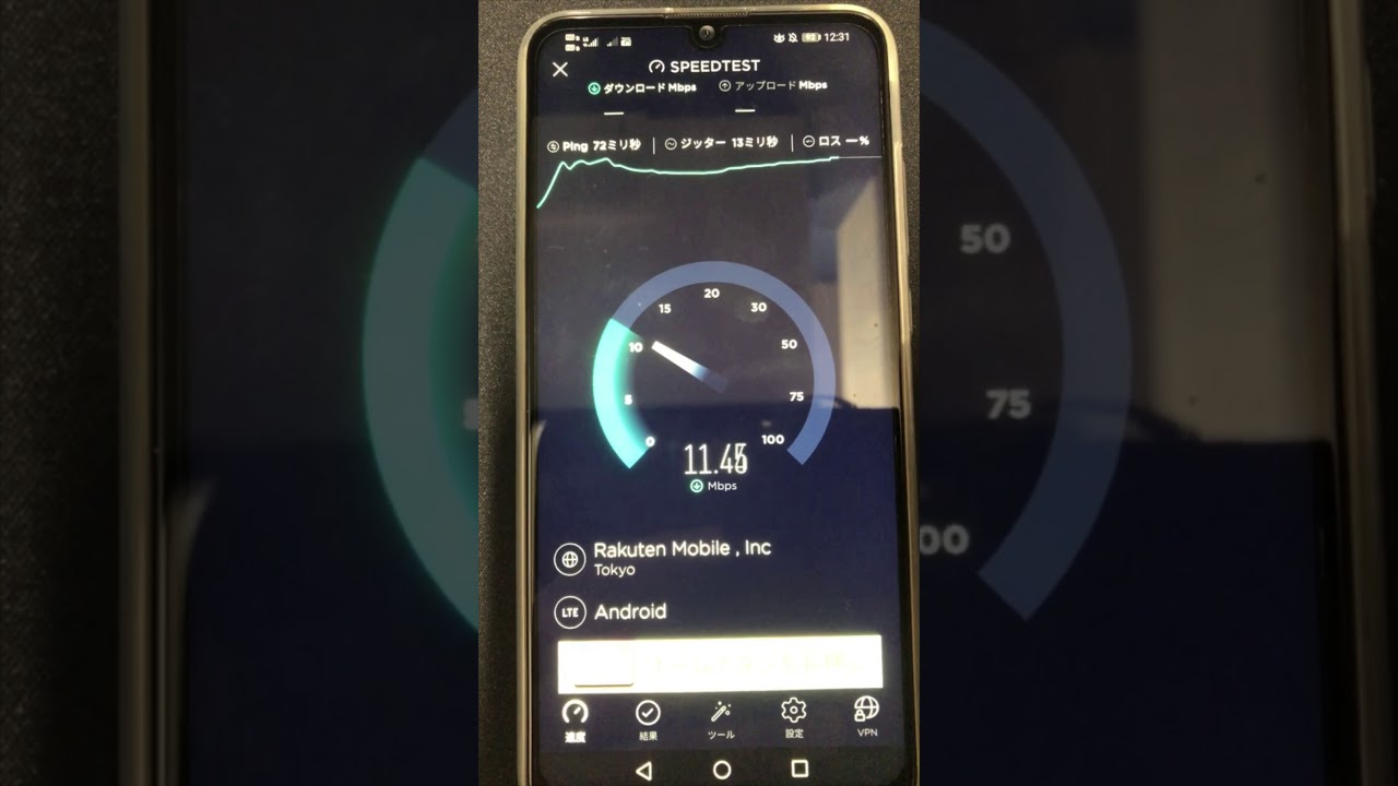 【DTI SIM速度検証-2019年12月】平日12時台 SPEEDTEST