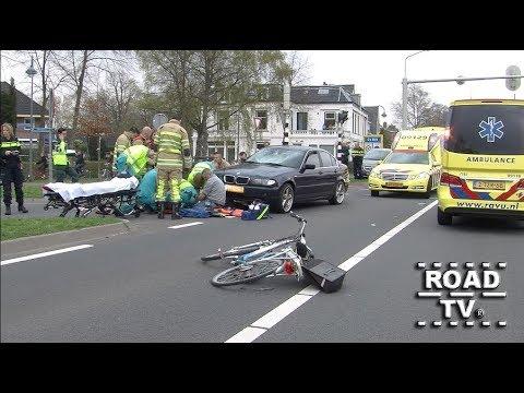 Fietser geschept op Utrechtseweg De Bilt 13-04-2018