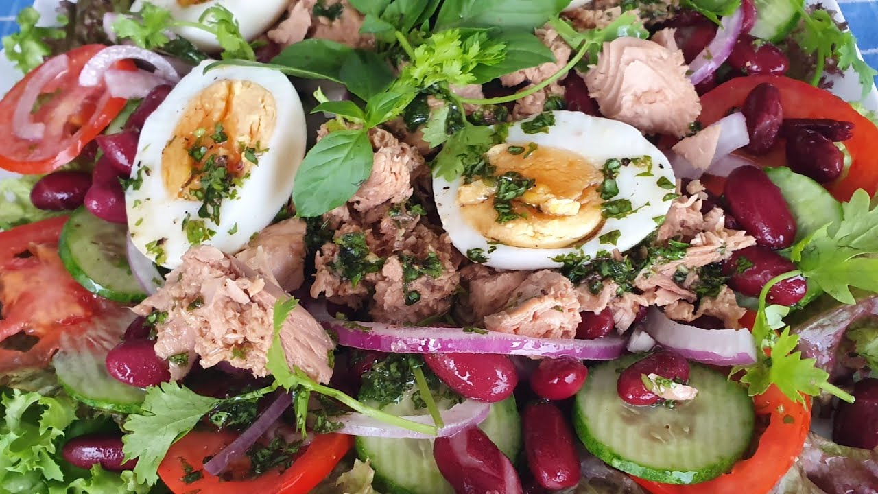 Tuna salad- Thons salade- Cá ngừ sà lách-Asian & European food