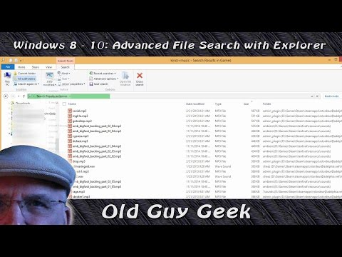 Windows 8.1 & 10 Tip: Advanced File Search with Explorer Toolbar