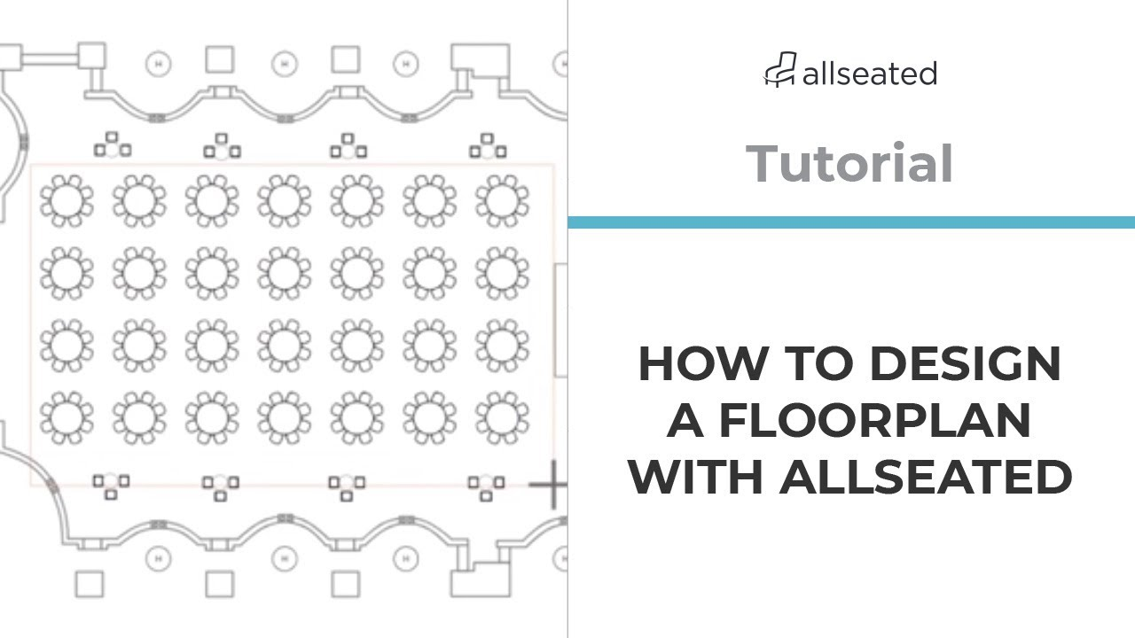 How To Design A Floor Plan Allseated Tutorial Youtube