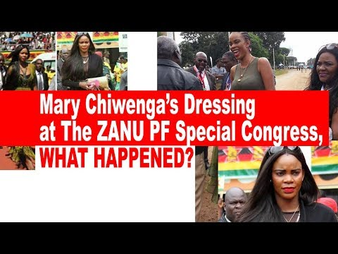 Mary Chiwengas Dressing At the Zanu PF Special Congress, WHAT HAPPENED?