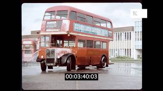 Early 1970s RT London Bus Driving Lesson, HD | Kinolibrary