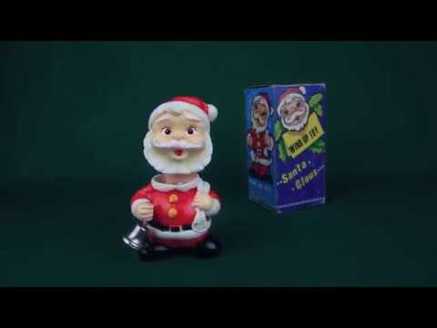 Santa Claus Wind Up Toy Alps Japan Youtube