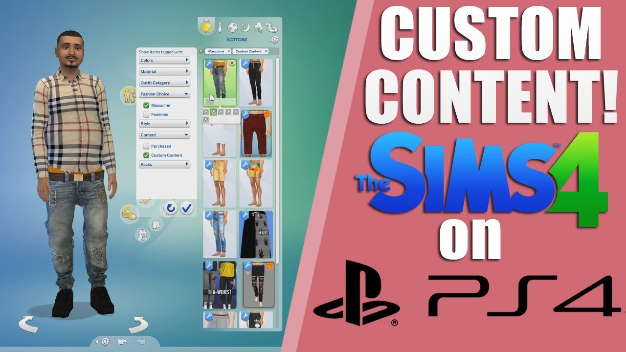 01dada235f8 CUSTOM CONTENT MODS THE SIMS 4 PS4!! HOW TO Tutorial   Lets Play ...