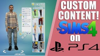 CUSTOM CONTENT/MODS THE SIMS 4 PS4!! HOW TO/Tutorial & Lets Play