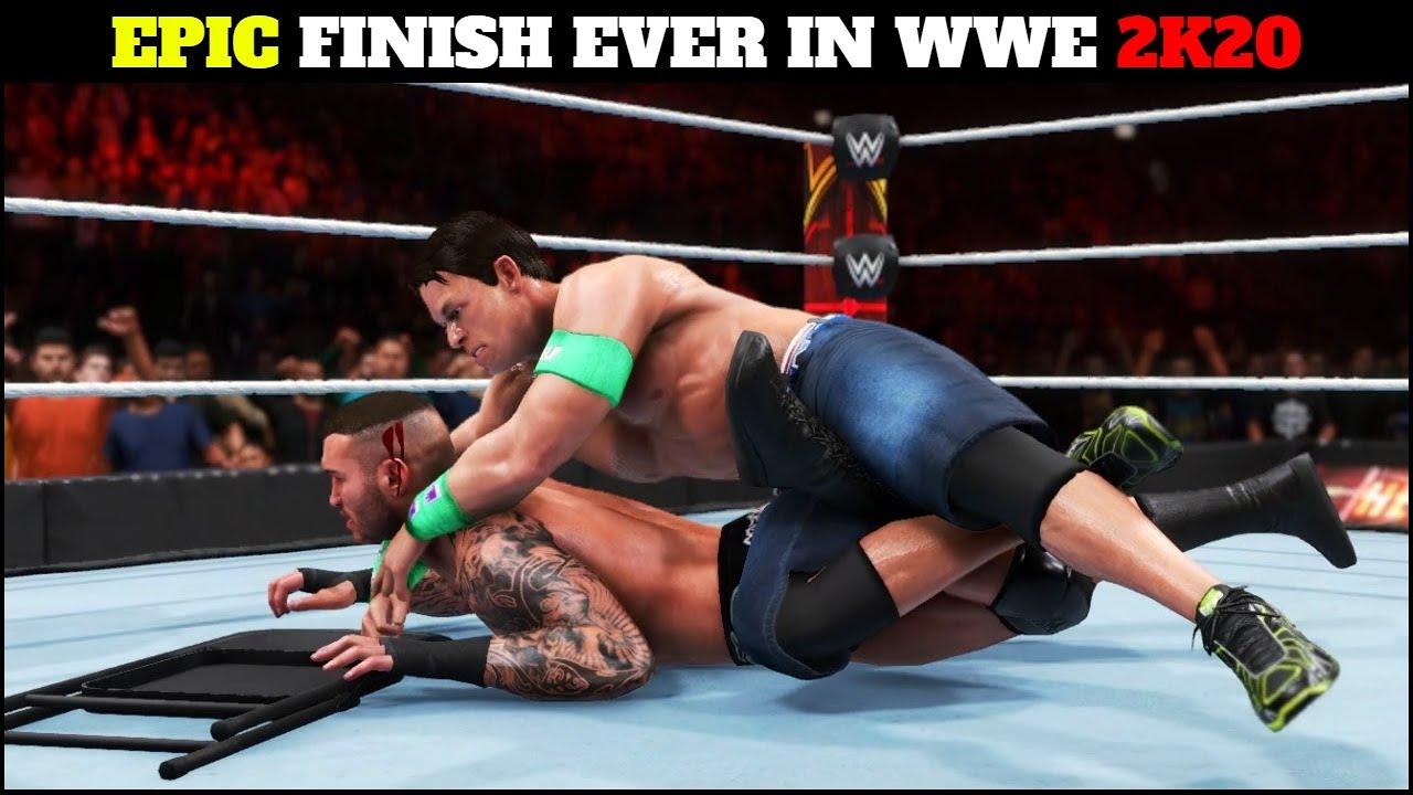 WWE 2K20 Epic Ending - John Cena VS Randy Orton Iron Man Match Com Vs Com   