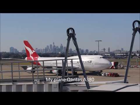 Sydney to London; A380 Qantas QF001 via Dubai, Economy Class