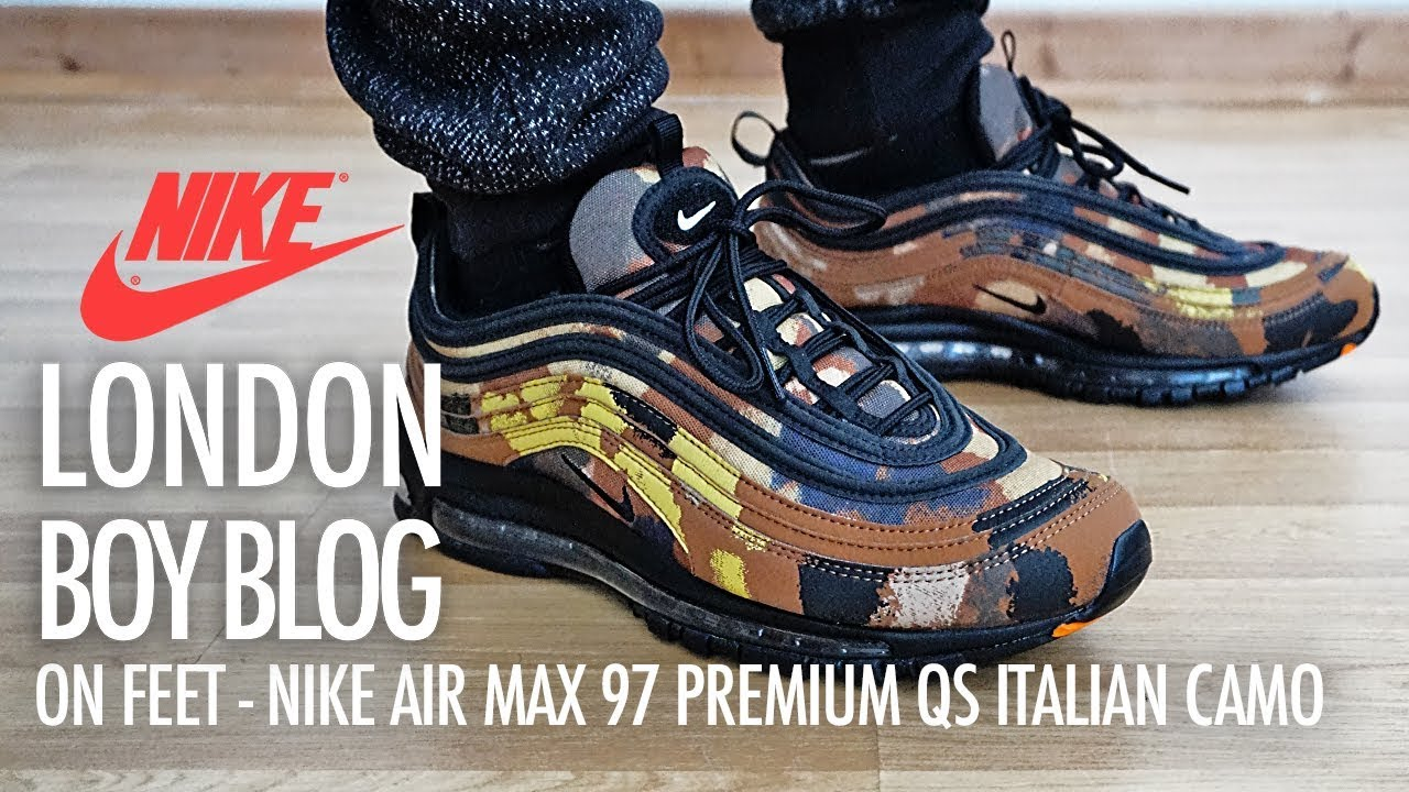 On Feet Nike Air Max 97 Premium QS Italian Camo